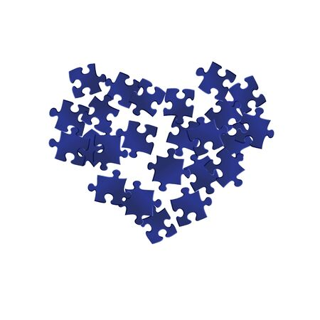 Business teaser jigsaw puzzle dark blue pieces vector background. Group of puzzle pieces isolated on white. Challenge abstract concept. Jigsaw pieces clip art.