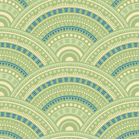 Moroccan geometric shapes fabric print vector seamless pattern. Ethnic motifs retro repeating geometry. Arabic folk mandala shapes seamless geometric motifs pattern. Çizim