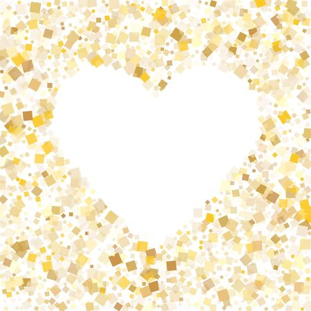 Trendy gold confetti sequins sparkles scatter on white. VIP holiday vector sequins background. Gold foil confetti party explosion illustration. Many sparkles surprise backdrop.