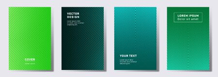 Minimalist covers linear design. Geometric lines patterns with edges, angles. Modern poster, flyer, banner vector backgrounds. Lines texture, header title elements. Cover page layouts set.