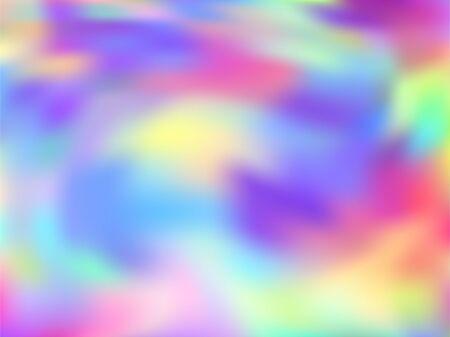 Holographic gradient neon vector illustration. Simple rainbow spectrum background. Liquid colors explosion background. Minimal gradient neon holographic backdrop shimmer print.
