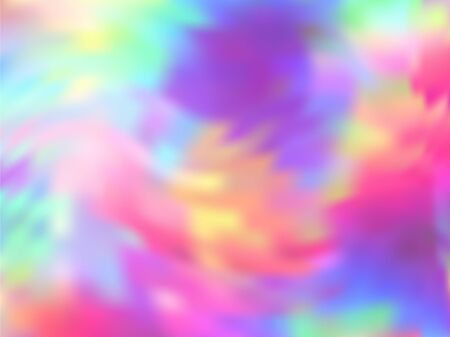Hologram effect glitch gradient vector design. Refulgent rainbow spectrum background. Liquid colors splash background. Ombre neon glitch effect hologram gradient wallpaper.