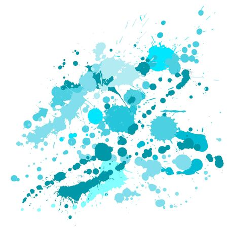 Ink stains grunge background vector. Futuristic ink splatter, spray blots, mud spot elements, wall graffiti. Watercolor paint splashes pattern, smear fluid stains spots background. 일러스트