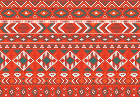 Boho pattern tribal ethnic motifs geometric seamless vector background. Trendy boho tribal motifs clothing fabric textile print traditional design with triangle and rhombus shapes.