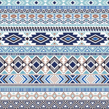 Mexican american indian pattern tribal ethnic motifs geometric vector background. Chic native american tribal motifs clothing fabric ethnic traditional design. Mayan clothes pattern design.