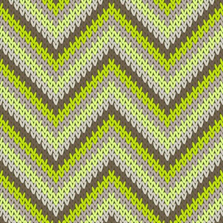 Clothing zigzag chevron stripes knitted texture geometric vector seamless. Scarf knit tricot  fabric print. Fashionable seamless knitted pattern. Christmas spirit backdrop.