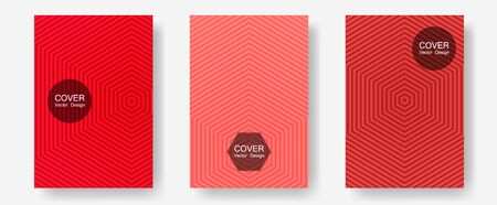 Brochure covers, posters, banners vector templates. Scientific style mix. Halftone lines annual report templates. Corporate catalogs. Geometric graphic design for booklet brochure covers.