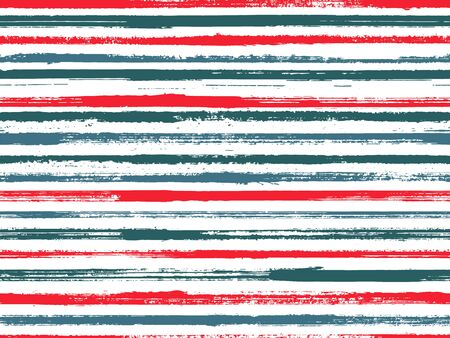 Hand drawn paint stripes fabric print seamless vector. Ethnic abstract design. Hand painted stripes vintage fabric print design. Wrapping paper lines pattern. Ink paint lines textured background.