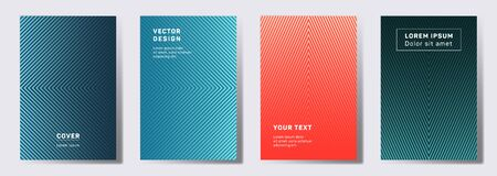 Futuristic covers linear design. Geometric lines patterns with edges, angles. Geometric poster, flyer, banner vector backgrounds. Line shapes patterns, header elements. Annual report covers.