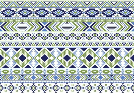 Sacral tribal ethnic motifs geometric vector background. Doodle geometric shapes sprites tribal motifs clothing fabric textile print traditional design with triangles Иллюстрация