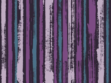Watercolor strips seamless vector background. Striped tablecloth textile print. Uneven ink hatch vertical lines textile pattern. Contemporary art graffiti drawing swatch. Иллюстрация
