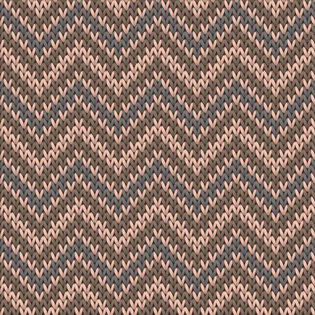 Woven chevron stripes knitting texture geometric seamless pattern. Carpet knit effect ornament. Scandinavian style seamless knitted pattern. Christmas spirit backdrop.