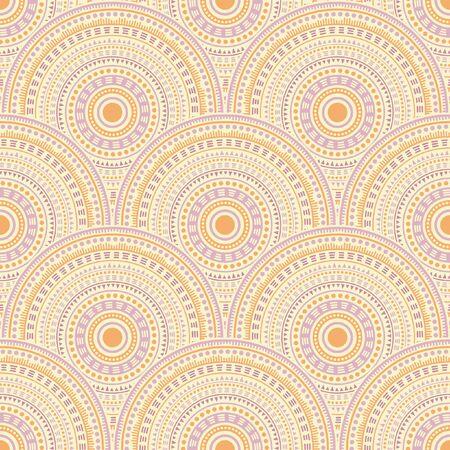 Moroccan geometric shapes background vector seamless pattern. Folk motifs hippie line art geometry. Arabic folk mandala shapes seamless geometric motifs pattern.
