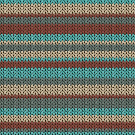 Material horizontal stripes knitting texture geometric vector seamless. Scarf knit tricot  fabric print. Winter seamless knitted pattern. Repeatable background. Иллюстрация