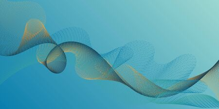 Fiber lines geometric simple background. Smooth filament curves motion creative background. Uneven curl lines ripple texture design. Technological optical fiber concept vector.