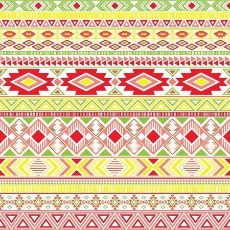 Mayan american indian pattern tribal ethnic motifs geometric seamless background. Graphic native american tribal motifs textile print ethnic traditional design. Aztec symbol fabric print.