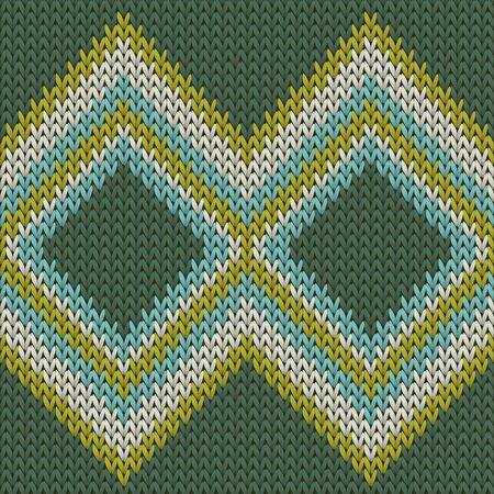 Cool rhombus argyle christmas knit geometric vector seamless. Fair isle sweater knitwear structure imitation. Winter seamless knitted pattern. Fabric canvas illustration.