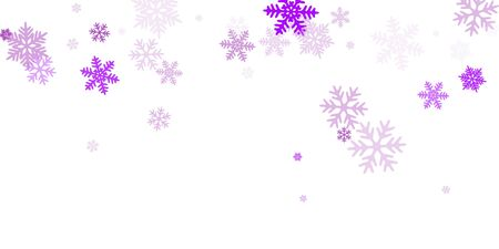 Winter snowflakes border minimal vector background. Macro snowflakes flying border graphics, holiday banner with flakes confetti scatter frame, snow elements. Frosty cold season symbols.