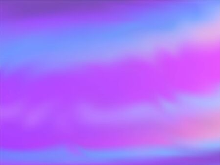 Blurred hologram texture gradient wallpaper. Psychedelic blue purple ultraviolet background. Liquid colors explosion background. glowing hologram neon glitch texture vector backdrop.
