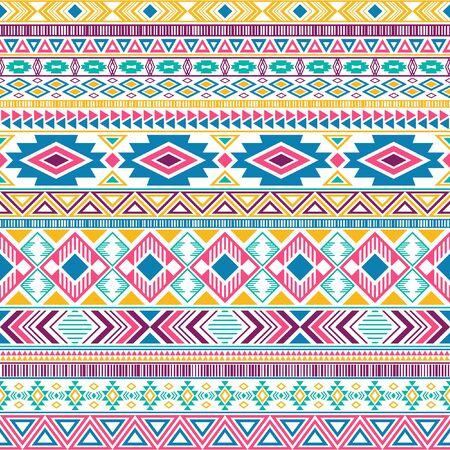 Mexican american indian pattern tribal ethnic motifs geometric seamless background. Beautiful native american tribal motifs textile print ethnic traditional design. Mexican folk fashion.