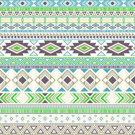 Mexican american indian pattern tribal ethnic motifs geometric vector background. Rich native american tribal motifs clothing fabric ethnic traditional design. Mexican folk fashion.