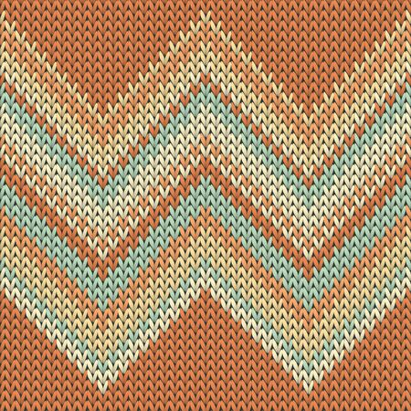 Woolen zig zal lines christmas knit geometric vector seamless. Plaid knitwear structure imitation. Scandinavian style seamless knitted pattern. Abstract xmas wallpaper.