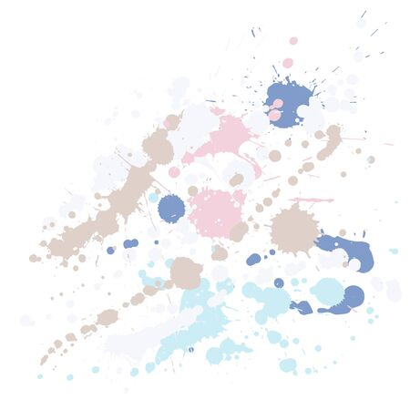 Watercolor stains grunge background vector. Cool ink splatter, spray blots, mud spot elements, wall graffiti. Watercolor paint splashes pattern, smear liquid stains spots background.