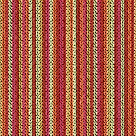 Cozy vertical stripes knit texture geometric seamless pattern. Blanket hosiery textile print. Norwegian style seamless knitted pattern. Abstract xmas wallpaper.