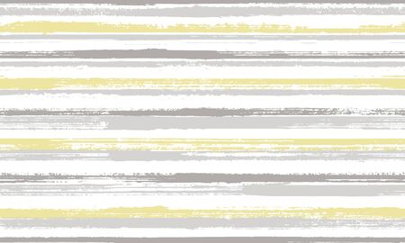 Ink freehand rough stripes vector seamless pattern. Minimal interior wall decor design. Vintage texture rough stripes, lines banner background. Endless pattern.