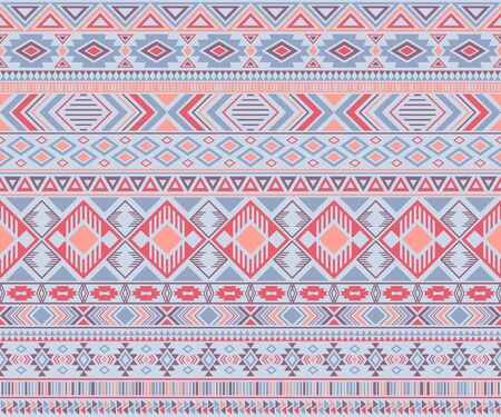 Peruvian american indian pattern tribal ethnic motifs geometric seamless background. Impressive native american tribal motifs textile print ethnic traditional design. Navajo symbols clothes pattern. Ilustração
