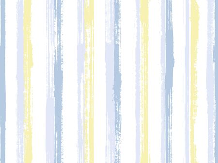 Watercolor brush stroke straight lines vector seamless pattern. Beautiful kids clothes fabric design. Scratchy texture straight lines, stripes banner background. Seamless pattern.
