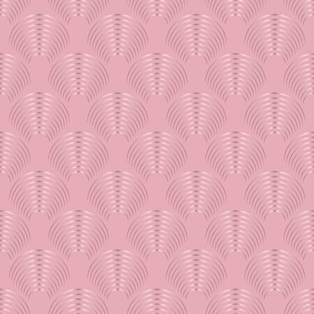 Art deco seamless pattern with rose gold pink gradient texture geometric shapes. Abstract fashion background. Tiles geometric art deco lines vector seamless pattern in pink gold nude rose colors.