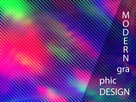 Lucid banner fluid holographic gradient vector design. Abstract wallpaper with holo texture. Shiny fluid neon holographic background for banner.