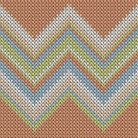 Fluffy zig zal lines knit texture geometric seamless pattern. Ugly sweater knitwear fabric print. Norwegian style seamless knitted pattern. Winter holidays wallpaper.