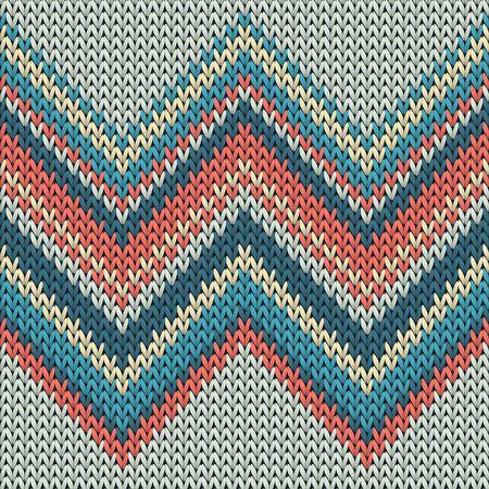 Cashmere zig zal lines knit texture geometric seamless pattern. Carpet knit tricot  fabric print. Fashionable seamless knitted pattern. Abstract xmas wallpaper.