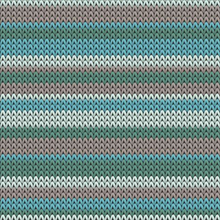 Handmade horizontal stripes knit texture geometric vector seamless. Pullover knit effect ornament. Traditional seamless knitted pattern. Cozy textile print design. Ilustrace