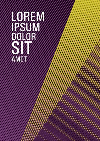 Brochure cover page layout geometric vector design. Presentation elegant leaflet. Future geometric pattern Ilustrace