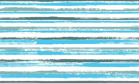 Watercolor hand drawn grunge stripes vector seamless pattern. Beautiful bedding textile print design. Grainy geometric grunge stripes, lines banner background. Seamless pattern. Ilustrace