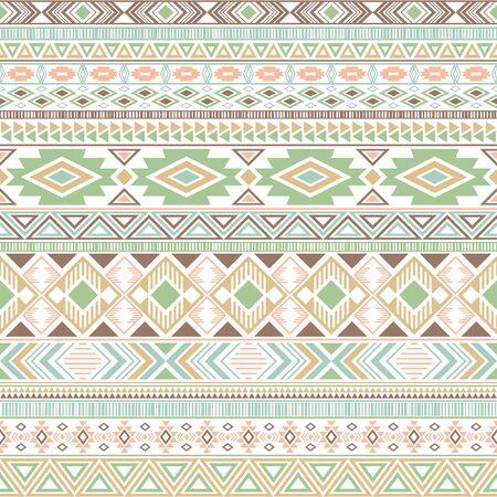 Aztec american indian pattern tribal ethnic motifs geometric seamless background. Bohemian native american tribal motifs clothing fabric ethnic traditional design. Mexican folk fashion.