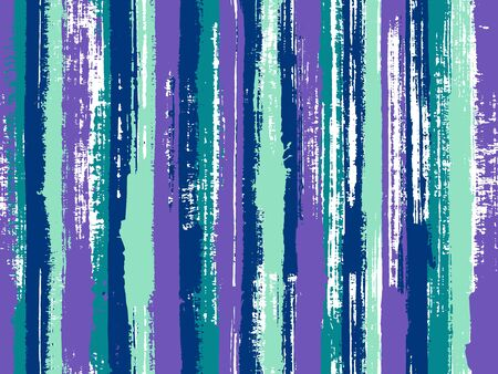 Watercolor strips seamless vector background. Stylish clothing fashion seamless fabric print. Striped tablecloth textile print. Acrylic paint texture swatch repeating design. Ilustrace