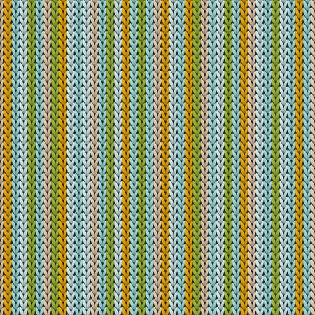 Bright vertical stripes knitting texture geometric vector seamless. Plaid stockinet ornament. Norwegian style seamless knitted pattern. Cozy textile print design.