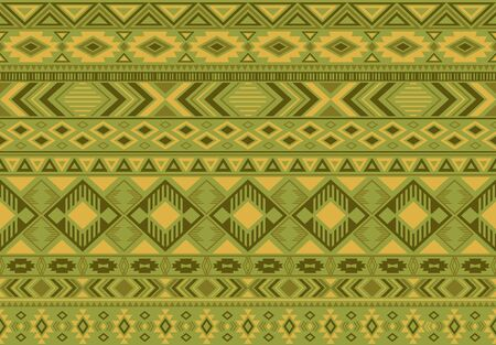 Boho pattern tribal ethnic motifs geometric seamless vector background. Cool ikat tribal motifs clothing fabric textile print traditional design with triangle and rhombus shapes. Çizim