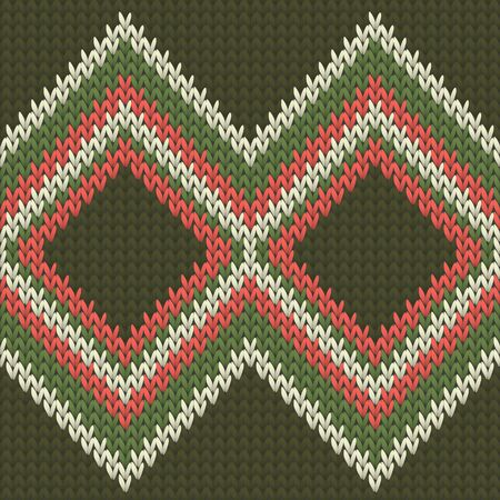 Woolen rhombus argyle christmas knit geometric vector seamless. Blanket knitting pattern imitation. Scandinavian style seamless knitted pattern. Repeatable background.