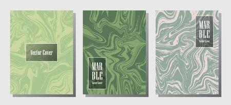 VIP marble prints, vector cover design templates. Fluid marble stone texture iInteriors fashion magazine backgrounds  Corporate journal patterns set of liquid paint waves. Splash effect prints. Çizim