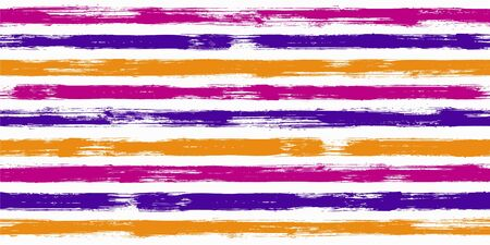 Old watercolor brush stripes seamless pattern. and paintbrush lines horizontal seamless texture for background. Hand drown paint strokes graffiti artwork. For wallpaper. Illusztráció