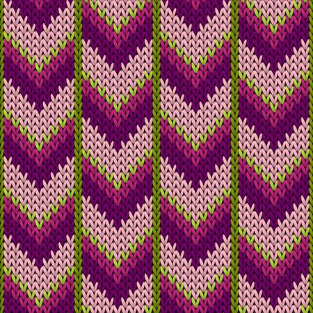 Fairisle downward arrow lines knitting texture geometric vector seamless. Jumper hosiery textile print. Fashionable seamless knitted pattern. Abstract xmas wallpaper. Vettoriali