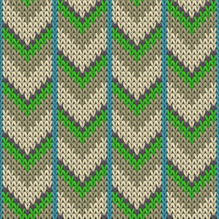 Woolen downward arrow lines christmas knit geometric vector seamless. Rug hosiery textile print. Nordic style seamless knitted pattern. Winter holidays wallpaper.