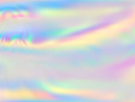 Hologram effect glitch gradient vector design. luminous pastel rainbow unicorn background. Polar lights liquid colors background. Surreal neon glitch effect hologram gradient wallpaper.