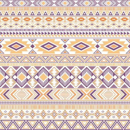 Mexican american indian pattern tribal ethnic motifs geometric seamless background. Doodle native american tribal motifs textile print ethnic traditional design. Aztec symbol fabric print. 일러스트
