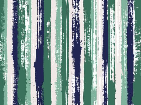 Watercolor strips seamless vector background. Brush stroke lines messy backdrop print pattern. Striped tablecloth textile print. Torn paper effect ethnic design.